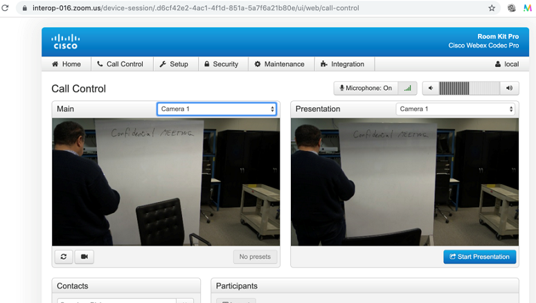 Zoom webpage looks and feels like Cisco video endpoint