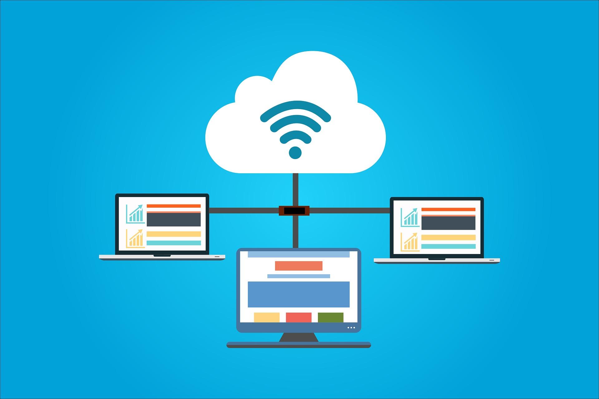 Computers using cloud computing