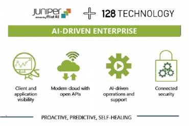 Diagram of Juniper and 128T portfolios