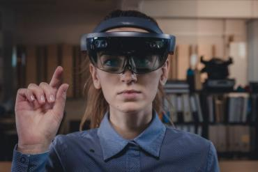 Women wearing VR headsets