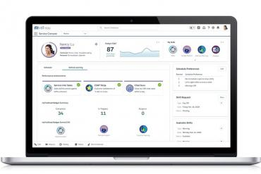 Salesforce Service Cloud Workforce Engagement agent interface