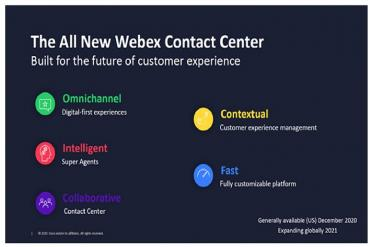 5 pillars of Cisco's new Webex Contact Center