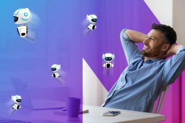 Bots flying about a user desktop
