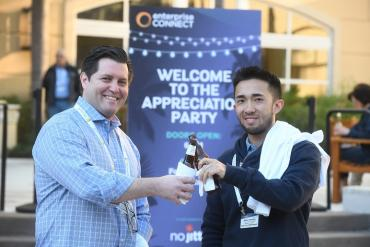 Attendees enjoying Enterprise Connect 2018