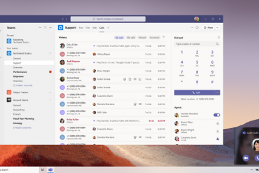 Screen grab of voice-enabled channels in Microsoft Teams