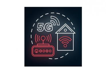 Diagram showing 5G fixed wireless at a residence