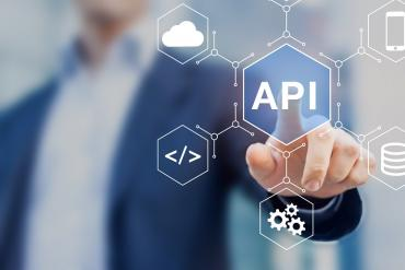 Someone tapping an API icon