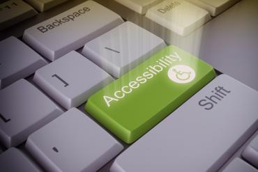 "A button that says ""accessibility"""