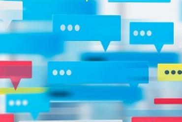Illustration of messaging apps