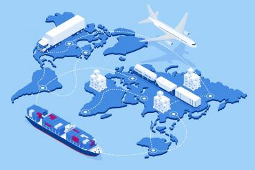 Illustration of global supply chain