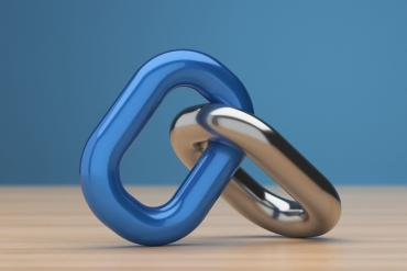 Picture of two links of a chain