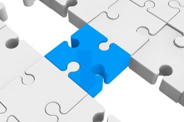 Puzzle piece bridging the gap