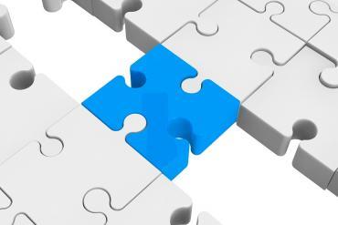 Puzzle piece bridging the gap