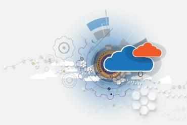 Two clouds illustrating concept of cloud integration