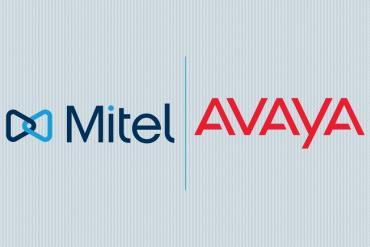 Avaya, Mitel logos
