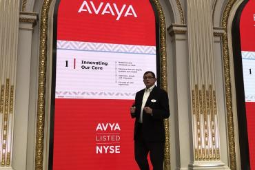 Avaya CEO Jim Chirico speaking at investor day