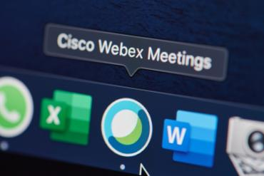 Cisco Webex Meeting on a display bar