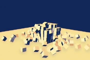 Cubes showing disruption