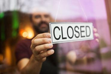 "Photo of ""closed"" shop sign"