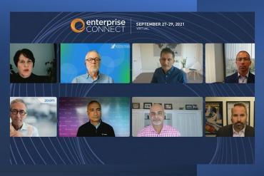 Screen grab of executive panel at Enterprise Connect