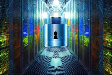 photo illustration showing cyber lockdown