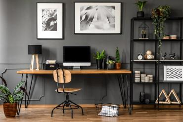 A modern-looking home office