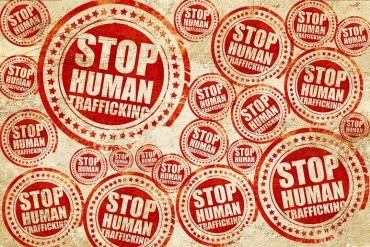 """Stamps that say """"stop human trafficking"""""""