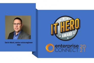Photo of IT Hero Award winner Darin Ward with award logo