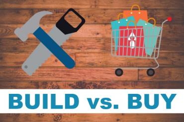 Build vs. buy illustration