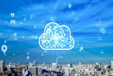 Illustration of cloud for urban connectivity