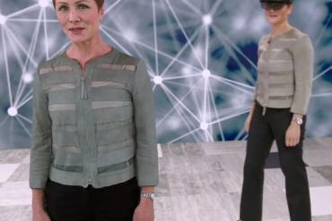 Julia White, Microsoft CVP for Azure AI Marketing, and her hologram