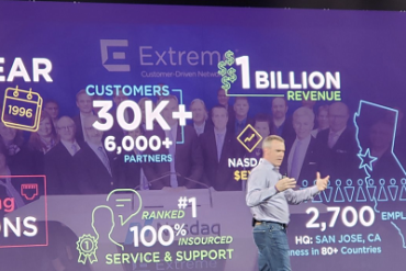 Extreme CEO at customer event