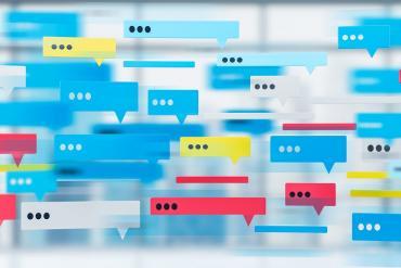 Illustration of lots of messaging apps