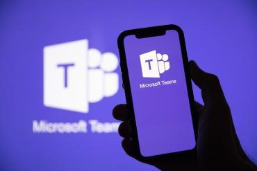 Microsoft Teams on a phone