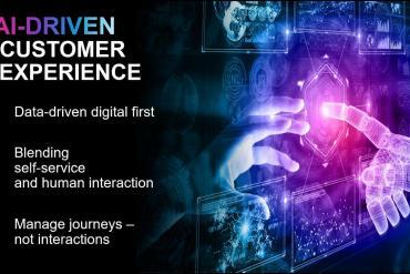 Slide describing AI-driven customer experience