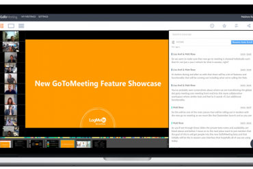 New GoToMeeting recording with video and transcription