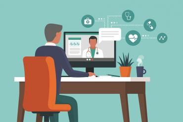 A telehealth appointment