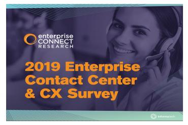 2019 Contact Center & CX Survey Results - Slide 1
