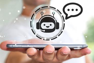 Illustration of chatbot on smartphone