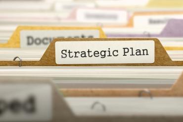 Old-school Strategic Plan file folder