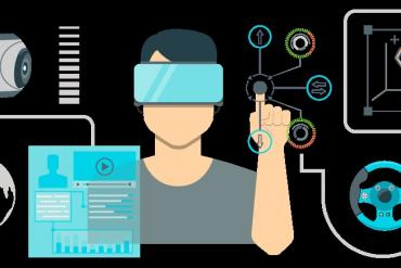 Workers using virtual reality