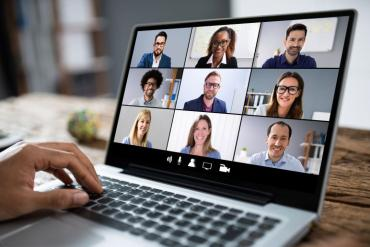 Photo of a videoconference