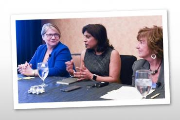 Picture showing three women in IT panelists
