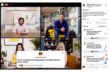 Workplace from Facebook's Q&A from the employee view