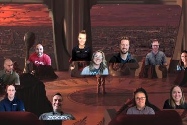 Video meeting using Zoom Immersive Share