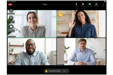 Zoom Meeting with hand raise feature