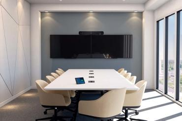 Poly devices in conference room