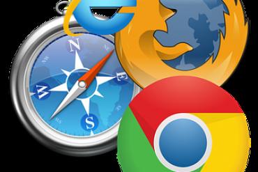 Chrome, Edge, Firefox, Safari  browser logos