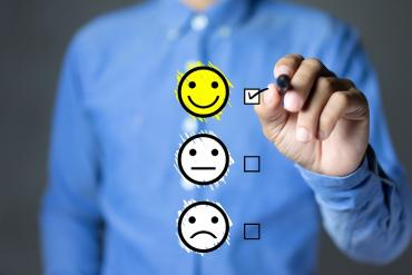 Customer satisfaction emojis