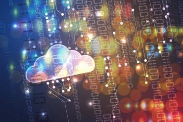 Conceptual illustration showing cloud communications